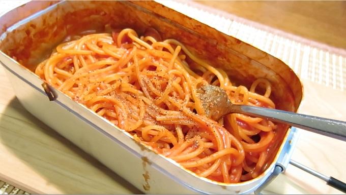 トマトソースパスタ完成