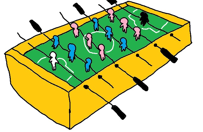 テーブルサッカー1